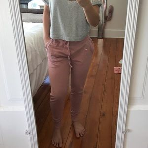 Dusty rose joggers